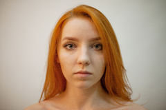 Dreammy portrait of redhead woman in soft focus Royalty Free Stock Photo