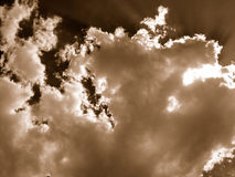 Dreams. A shot of clouds in sepia Stock Photography