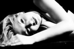 Dreams. Sexy glamor girl. Shot in studio Stock Images