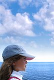 Dreams. My daughter enjoying the beach royalty free stock images