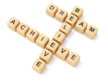 Dreams,believe and achieve Stock Photos