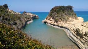Canal d`amour beach. The fairy tale Corfu. royalty free stock photos