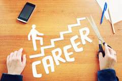 Dreams about career growth in life Stock Images