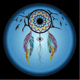 Dreams catcher with an amulet against the evil eye. Stock Photos