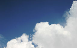 Dreams - clouds. Cloudy blue day stock photo