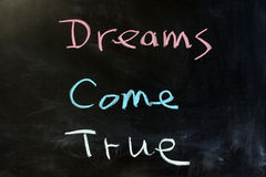 Dreams come true Royalty Free Stock Photo