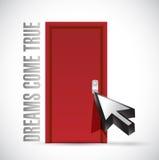 Dreams come true door illustration design Stock Image