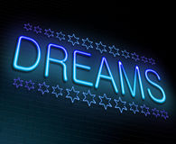 Dreams concept. Royalty Free Stock Photos