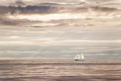 Dreams Freedom Sailboat Sunset Royalty Free Stock Photos