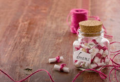 Dreams in a glass jar stock photo