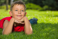 Dreams on the green grass Royalty Free Stock Images