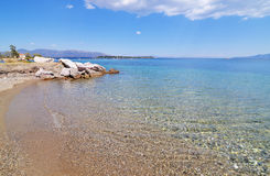 Dreams island beach at Eretria Euboea Greece Royalty Free Stock Photo