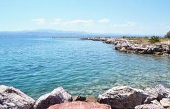 Dreams island beach at Eretria Euboea Greece Royalty Free Stock Photography
