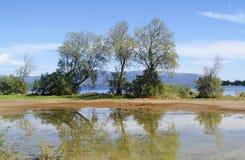Dreams island Eretria Greece rain reflections Royalty Free Stock Photos