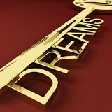 Dreams Key Representing Hopes And Visions royalty free stock photos