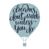 Dreams lettering Stock Images