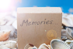 Dreams message on the beach - vacation and travel concept Royalty Free Stock Photos
