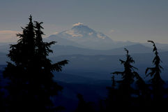Dreams in the Mist. Mount Jefferson Oregon in October Stock Photos
