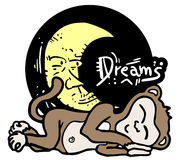 Dreams monkey Stock Image