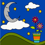 Dreams of the moon Royalty Free Stock Photography