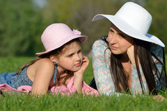 Dreams of mother and daughter Royalty Free Stock Photos