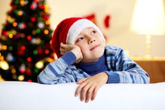 Dreams of a new year Stock Image