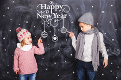 Dreams about New Year stock image