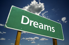 Dreams Road Sign stock photos