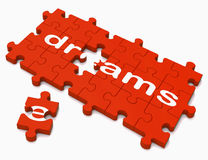 Dreams Sign Showing Hope And Desires Royalty Free Stock Image