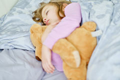 Dreams of toddler girl Royalty Free Stock Image