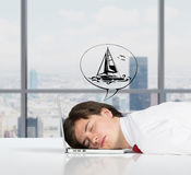 Dreams of travel Stock Image