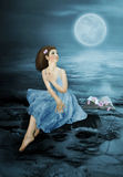 Dreams under the moon Stock Images