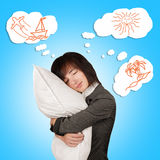 Dreams about vacation Stock Photography