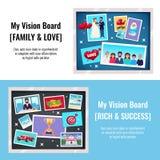 Dreams Vision Board Banners Set stock illustration