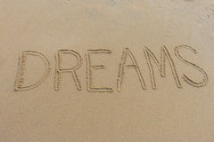 Dreams Written in the Sand Royalty Free Stock Photography