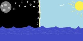 Yin and Yang, Sun and Moon royalty free stock photo