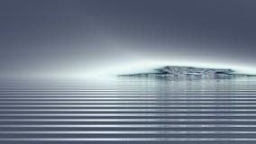Dreamscape Νησί θησαυρών σε μια ελαφριά ομίχλη της ομίχλης στοκ φωτογραφίες