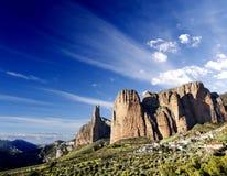 Dreamscape del barranco y de las montañas Imagen de archivo