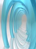 Dreamscape Hall of Glass Arches. Dream-scape Hall of cool blue Glass Arches Royalty Free Stock Image