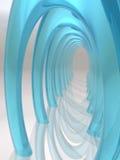 Dreamscape Salão dos arcos de vidro ilustração do vetor