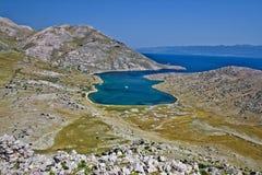 Dreamscapes de Mala Luka, île de Krk Images stock