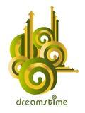 dreamstime λογότυπο ιδέας Στοκ φωτογραφία με δικαίωμα ελεύθερης χρήσης