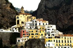 Italy Landscape - Colourful close up amalfi village. Dreamstime collection - Beautiful Image in natural daylight at Amalfi Village royalty free stock photo