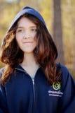 Dreamstime hoodie. Teen girl in dreamstime hoodie Stock Image