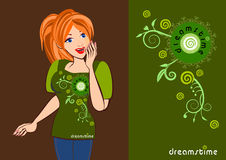 Dreamstime logo stock illustrationer