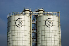Dreamstime silos. External view of Dreamstime DB: all our img are here storage royalty free stock photo