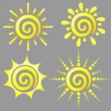 Dreamstime sun. Four beautiful dreamstime sun logo stock illustration