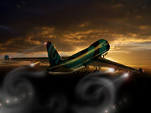 Dreamstime takeoff. Takeoff of a Boeing 747 with Dreamstime logo on its fuselage Royalty Free Stock Photography