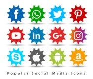 Popular social media icons. vector illustration