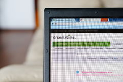 Dreamstime website. On screen Stock Photos